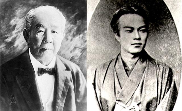 渋沢栄一と五代友厚の画像