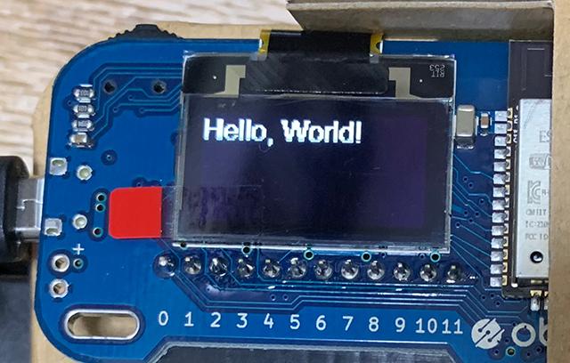 """Hello,World!""というメッセージを表示するIoTホームキット"
