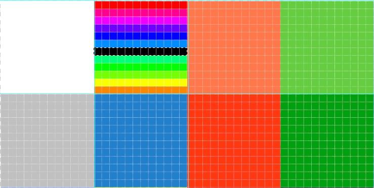 グラデーションの真ん中の色だけ変更