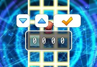 RPGツクールMVのパスワードの入力画面